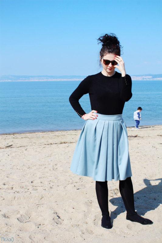 Γαλάζια φούστα