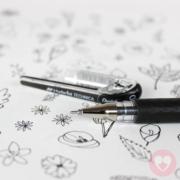 Στυλό Pentel Hybrid γραφής και σχεδίου μαύρο χρώμα 1