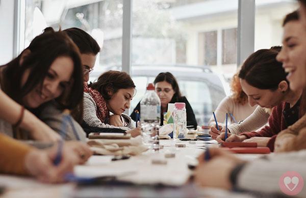 Σεμινάριο σύγχρονης ελληνικής καλλιγραφίας και λέττερειν, Δημοτική Αγορά Κυψέλης, Μάρτιος 2018