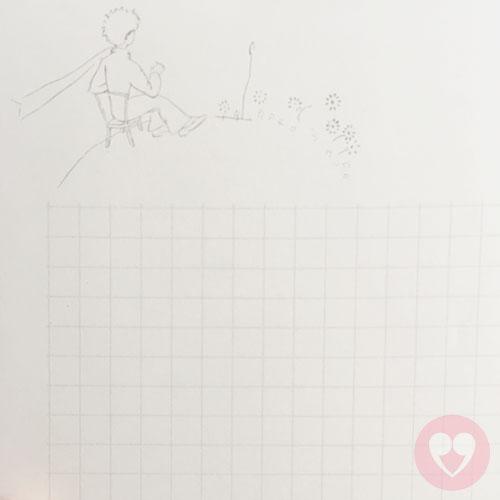 Τετράδιο με μαλακό εξώφυλλο με τον Μικρό Πρίγκηπα
