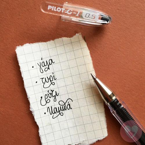 Στυλό gel Pilot με μύτη 0.5mm-μαύρο
