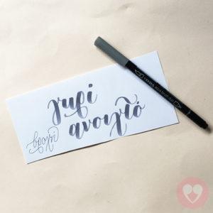 Lyra Aqua Duo διπλός μαρκαδόρος καλλιγραφίας χρώμα γκρι ανοιχτό
