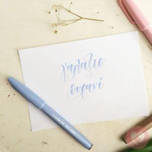 Μαρκαδόρος καλλιγραφίας Pentel Brush Sign Pen μπλε-γκρι