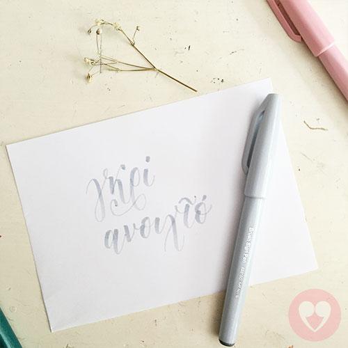 Μαρκαδόρος καλλιγραφίας Pentel Brush Sign Pen γκρι ανοιχτό