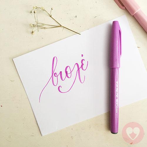 Μαρκαδόρος καλλιγραφίας Pentel Brush Sign Pen ροζ-βιολέ