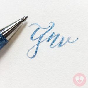 Στυλό gel με χρωματισμούς και γκλίτερ