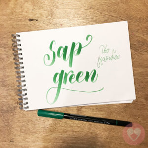 Lyra Aqua Duo διπλός μαρκαδόρος καλλιγραφίας χρώμα sap green