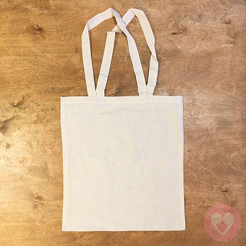 Βαμβακερή τσάντα 38εκx40εκ από μη λευκασμένο βαμβάκι 130 γρ.