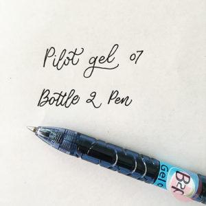 Στυλό Pilot από ανακυκλωμένο πλαστικό, μελάνι gel και μύτη 07