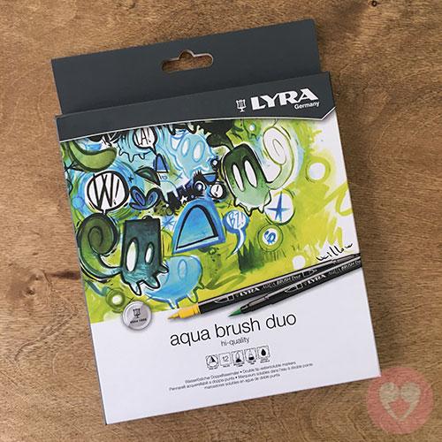 Σετ 12 διπλών μαρκαδόρων Lyra Aqua Brush Duo