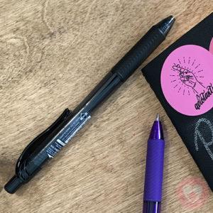 Στυλό Pentel EnergelX με μελάνι τζελ και κουμπί