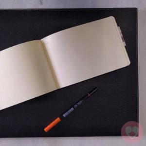 Μπλοκ σχεδίου και σημειώσεων 21x14.8 μαύρο εξώφυλλο