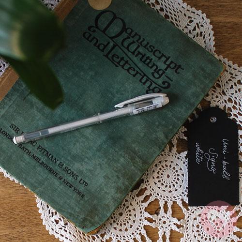 Στυλό Uni-Ball angelic colour με μελάνι τζελ λευκό