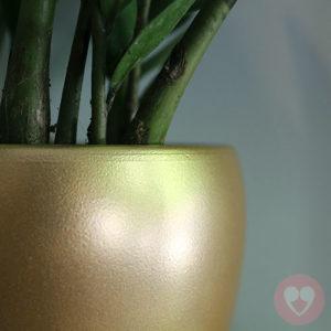 κεραμικό κασπό χρυσό