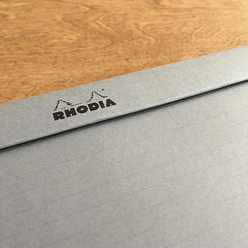 Μπλοκ Rhodia PAscribe Α4 εξάσκησης καλλιγραφίας και αλληλογραφίας με γκρι σελίδες ριγέ
