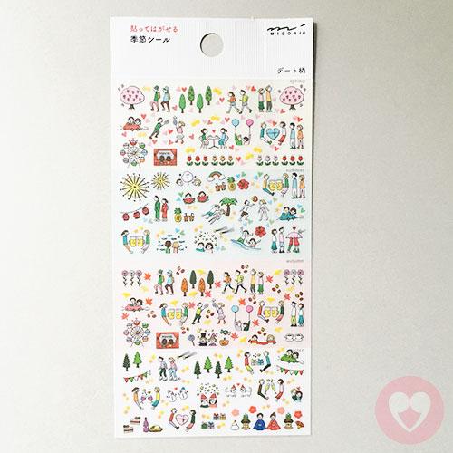 Αυτοκόλλητα Midori από χαρτί washi