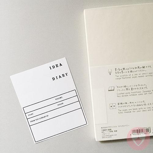 Τετράδιο MD Slim Notebook με παραδοσιακή ιαπωνική βιβλιοδεσία
