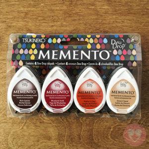 Σετ 4 ταμπόν μελάνης Tsukineko Memento Dew Drop
